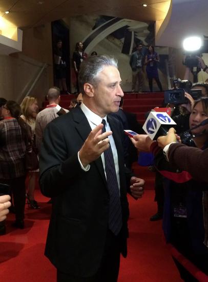 Jon Stewart on the red carpet last night